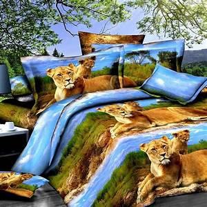 Luxury, Ferocious, Animal, Soft, Breath, Bedding, Set, Twin, Queen
