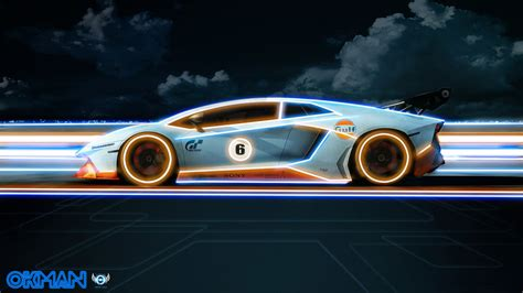 Tron Lamborghini Wallpaper Edit By Okman179 On Deviantart