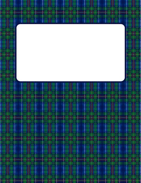 printable tartan binder cover template