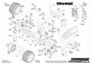 Exploded View  Traxxas Stampede 1 10 Vxl Tqi Bluetooth