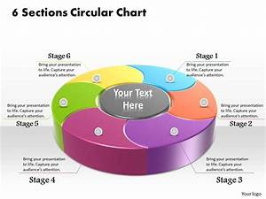 1013 Busines Ppt Diagram 6 Sections Circular Chart