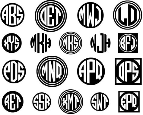 circle monogram font cricut pinterest