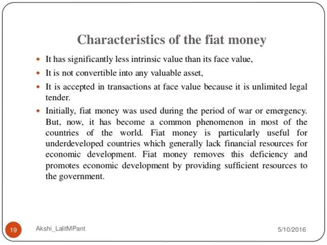 What Is Fiat Money In Economics by Money