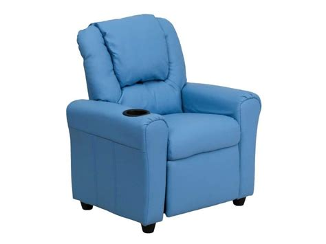 Light Leather Recliner by Bruce Peters Kid Recliner Light Blue Faux Leather