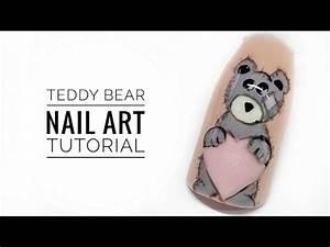 Cute Teddy Bear Nail Art Tutorial || My Wonderland - YouTube