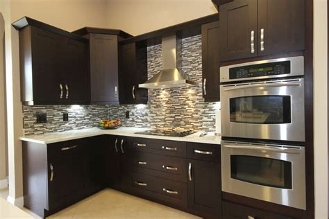 espresso kitchen cabinets with backsplash espresso kitchen cabinets kitchen contemporary with custom
