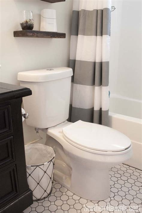 nautical guest friendly bathroom makeover reveal southern revivals
