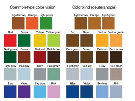 colorblind colors color blindness