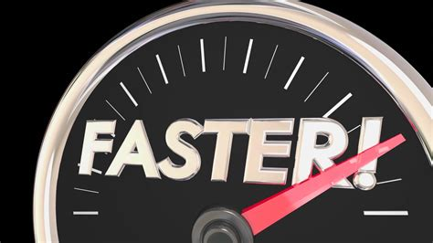 Faster Word Speedometer Quick Action Acceleration 3d ...