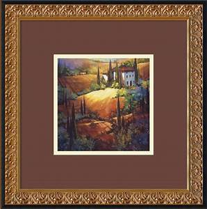 Morning light tuscany framed print by nancy o39toole for What kind of paint to use on kitchen cabinets for tuscan framed wall art