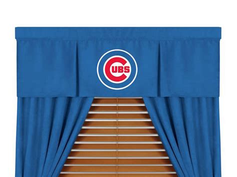 chicago cubs mlb microsuede window valance