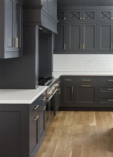 hot  kitchen trend dark cabinets subway tile