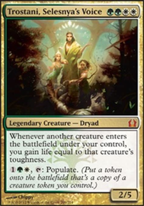 Green White Token Deck Tapped Out by Trostani Token Master Commander Edh Mtg Deck