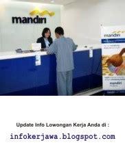 lowongan kerja bumn bank mandiri terbaru bulan januari
