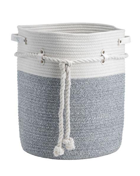 cotton panier 224 linge blanc gris h 41 cm 216 35 cm