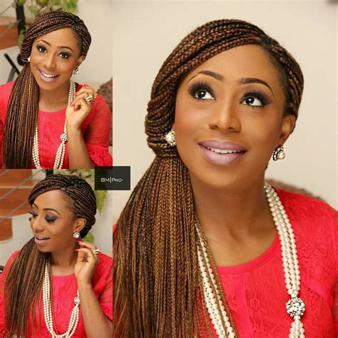 hair style style dakore akande dishes trendy unique box braids updo 7119