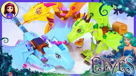 lego elves dragon comparison water fire earth kids toys
