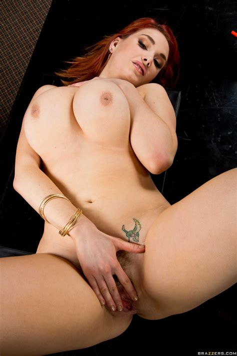 Red Haired Hottie Bending Down And Getting Fucked Hard