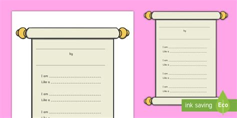ks poetry writing template national poetry day