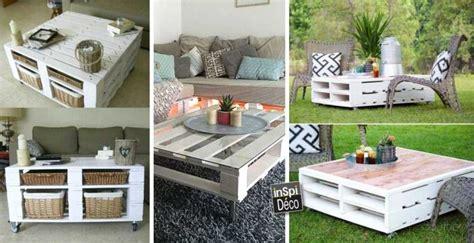 tables basses en bois de palettes très originales 20