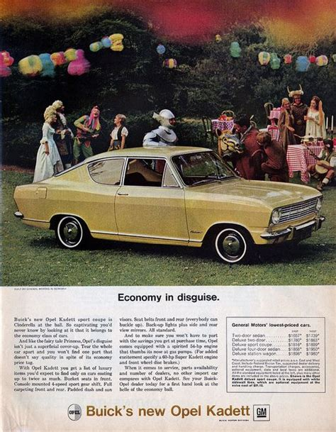 Opel Cars In Usa by Opel Kadett 1966 Distributed By Buick In The Usa