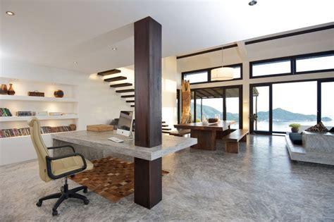 bureau beton cir aménagement bureau à la maison en 52 idées décoratives