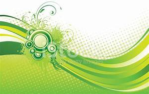 Green Grunge Floral Abstract Background Stock Vector