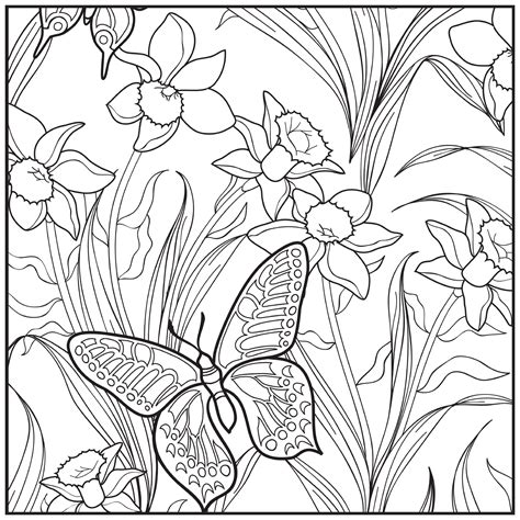 adult coloring pages garden  getcoloringscom