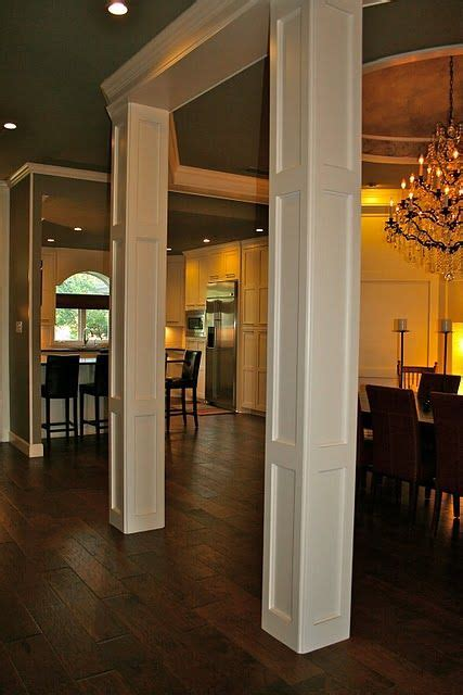dining room open  kitchen structural columns kitchen pinterest columns kitchens  room