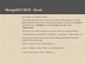 mongo db basics With mongodb subdocuments