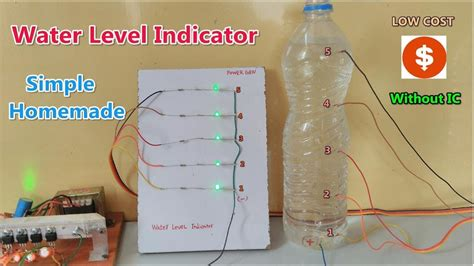 Without Sensor Simple Water Level Indicator Made