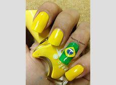 Brazil Flag Nail Art Gallery