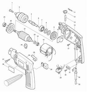 Spares For Makita Hp1300s Percussion Hammer Drill 110v