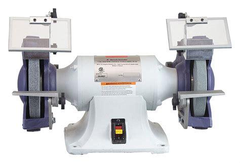 dayton bench grinder dayton bench grinder 230 460v 1 hp 8 in dia 38uk61