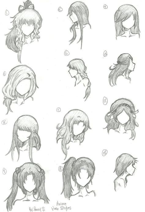 animated hair styles hair styles 1 12 by animebleach14 on deviantart sketches 8468