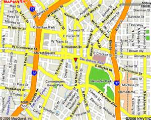 Street Map Downtown San Antonio