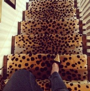 leopard print stair runner  thecarpertworkroomcom decorating   home decor home