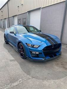 Salvage Car Ford Mustang 2020 Blue for sale in WINDSOR NJ online auction 1FA6P8SJXL5500674