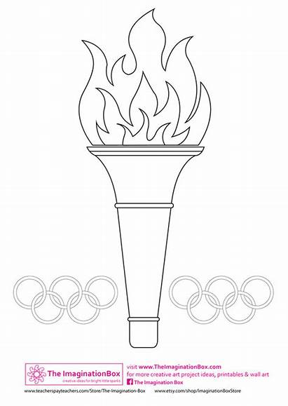 Olympic Olympics Torch Games Drawing Special Winter