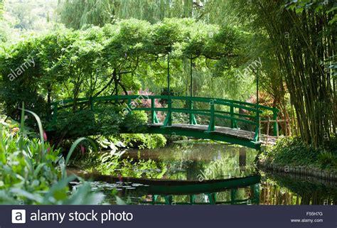 Giverny Monet Garten by Claude Monet Bridge Stockfotos Claude Monet Bridge