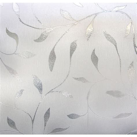 artscape etched leaf decorative window artscape 174 etched leaf window privacy 01 0128