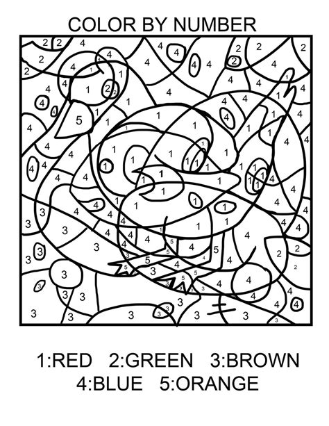 Easy Color By Numbers Coloring Pages Getcoloringpagescom