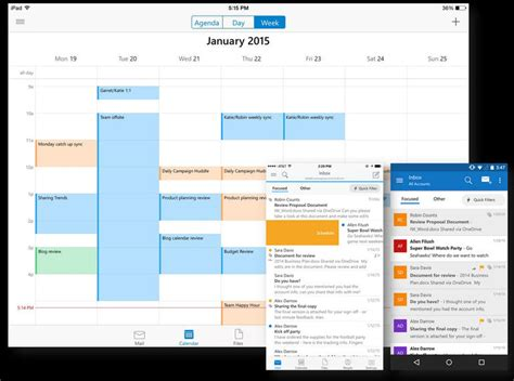 outlook android app microsoft rolls out new outlook apps for ios and android