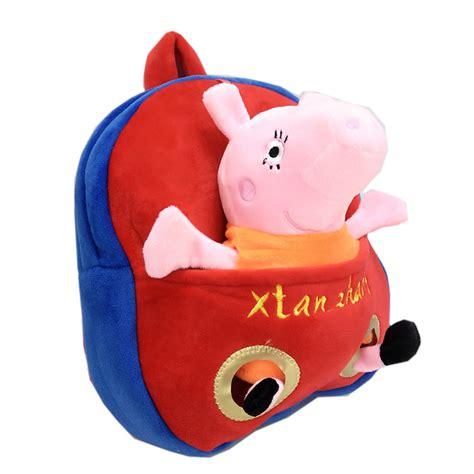 peppa pig plush backpack plush peppa pig george backpack school book bags toys for