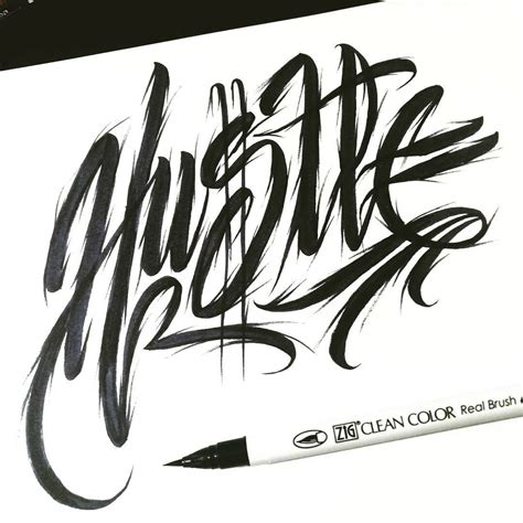 hutl brush  lettering calligraphy typography