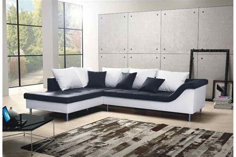 canapes en solde canapé d 39 angle design elvis convertible noir et blanc