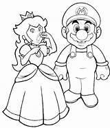 Coloring Peach Princess Mario Saving Sheet Pages sketch template