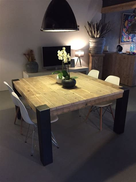 table salle a manger palette 2 table carree bois table