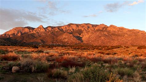 Sandia Mountains @ Sunset - YouTube