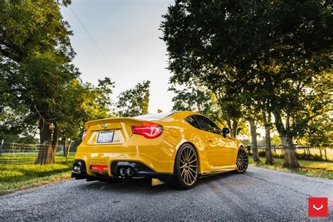 scion yellow yellow scion fr s with trd kit and bronze vossen wheels